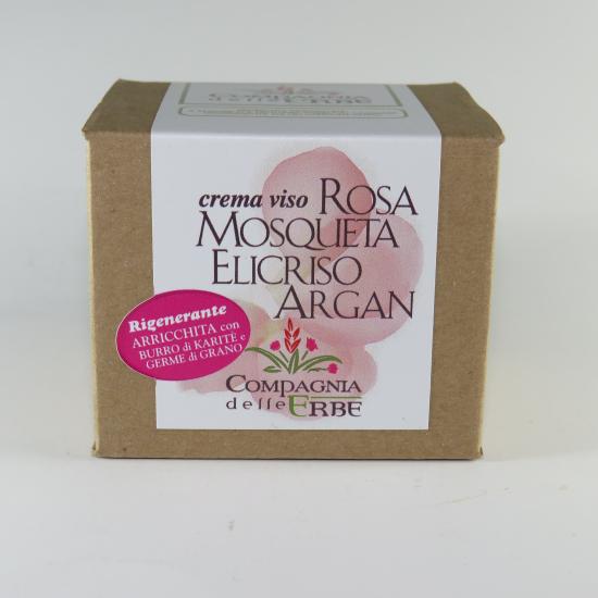 Crema rosa mosqueta, elicriso, argan