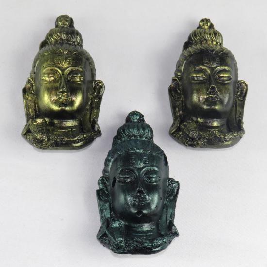 Volto di Shiva in gesso dipinto