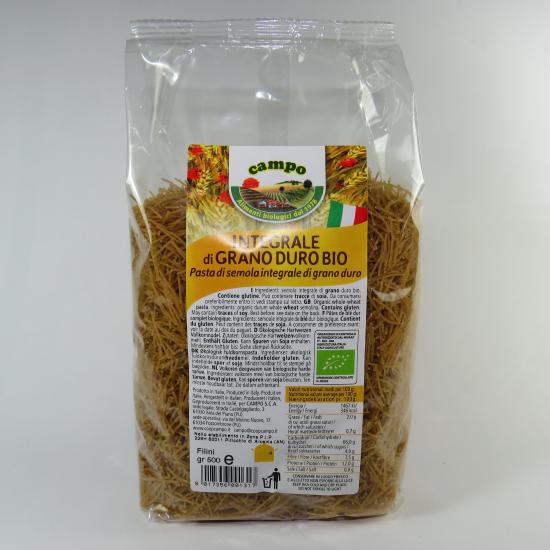 Filini integrali di grano duro BIO