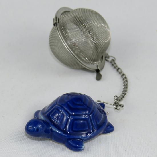 Infusore da tè con tartaruga in ceramica
