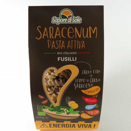 SARACENUM Pasta Attiva - Fusilli BIO