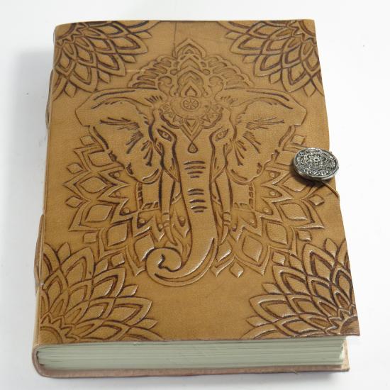 Quaderno Elefante con copertina in pelle