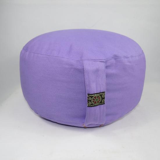 Cuscino meditazione viola chiaro cotone organico