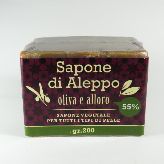 Sapone di Aleppo con olio di alloro al 55%