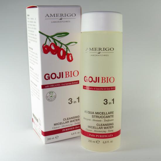 Acqua micellare goji BIO struccante 3 in 1