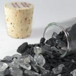 Ampolla con pietre Shungite