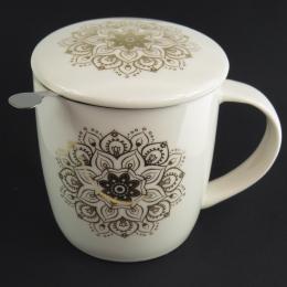 Mug infusore Mandala bianco