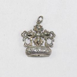 Ciondolo in argento doppio vajra