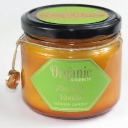 Candela organica profumata PATCHOULI e VANIGLIA