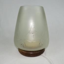 Lampada in legno e vetro