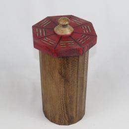 Scatola in legno con trigrammi
