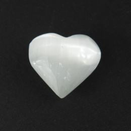Pietre del sollievo a cuore Selenite bianca