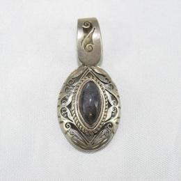 Ciondolo in argento con pietra